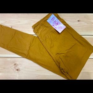 Buskins yoga band leggings mustard plus size